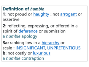 Definition of humble